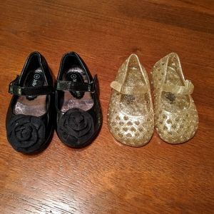 TWO PAIRS Size 4 Toddler Flats